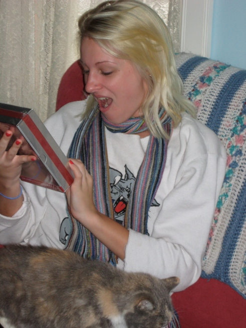 Me receiving TNG s1 for Christmas a few years ago...best!