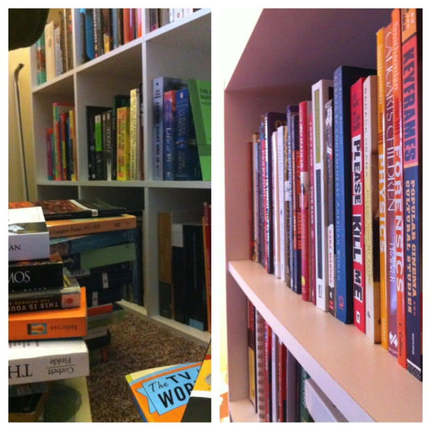 90% of my books in my apartment are unread