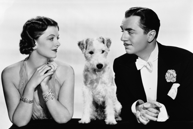 Nora and Nick Charles and their lovely dog Asta.